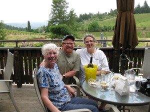 Wine tasting with a couple of my favorite people