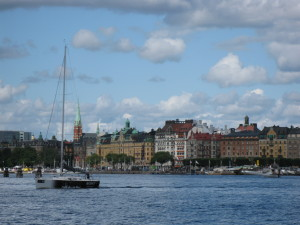 One of many views of Stockholm from the ferry