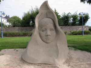 Sand sculpture in park