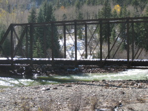 An old trestle bridge