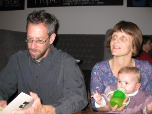 Steev, Greta, and Savanna at Proper Restaurant
