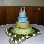 Neat wedding cake