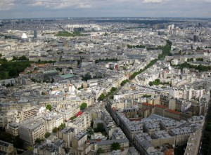 View of Paris from tower