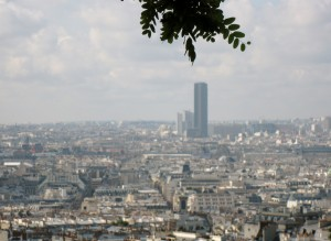 Paris view from hilltop