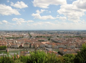 Lyon from Fourvière Hill