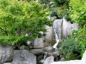 Waterfall in gardens
