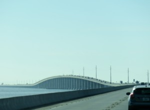 One of many bridges over the water to Key West