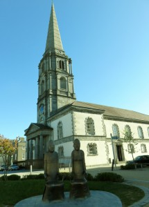 One of many churches and statues in Waterford