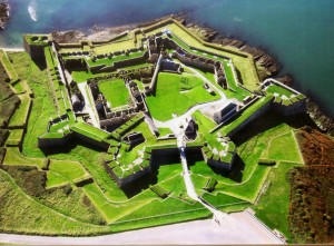Model of star-shaped fort