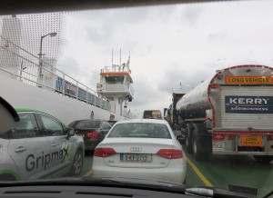 Driving onto ferry