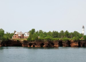 Sea caves, lighthouse, keeper's quarters