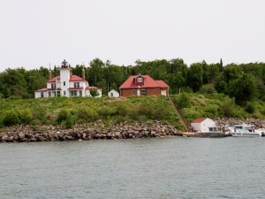 Lighthouse and quarters on Raspberry Island