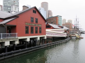 Boston Tea Party Museum with ship