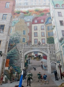 Murals painted on side of buildings