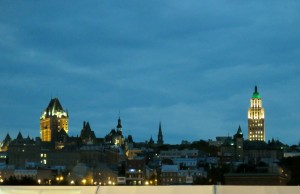 Skyline of Quebec at night