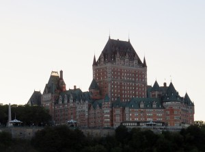 View of Chateau Frontenac from the ship