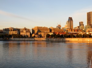 Morning view of Montreal shoreline