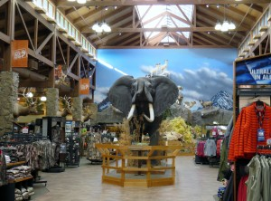 Center aisle at Cabela's