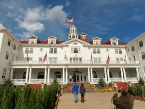 In front of Stanley Hotel