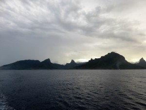 Leaving Moorea behind