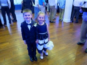 Carson and Kaylyn ready to walk down the aisle
