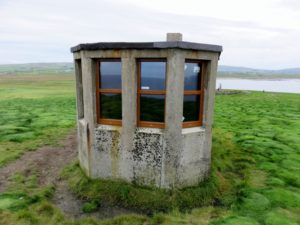 Lookout post on top of cliffs