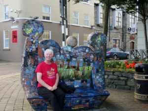 Dragon bench downtown Sligo