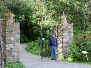 Tom at castle entrance