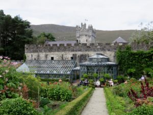 Gardens with castle in background