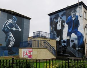 Murals depicting the violence 40 years ago