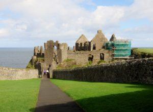 Walking down to Dunlace Castle