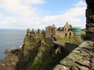 Castle on edge of basalt outcropping
