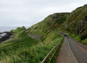 Walking down to Giant's Causeway