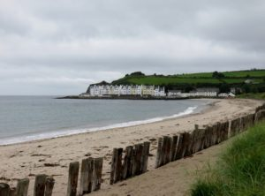 Beach area and resort by Carnlough