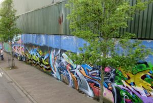 Portion of peace wall