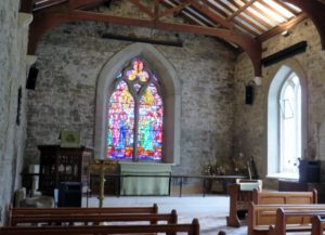 Inside the church